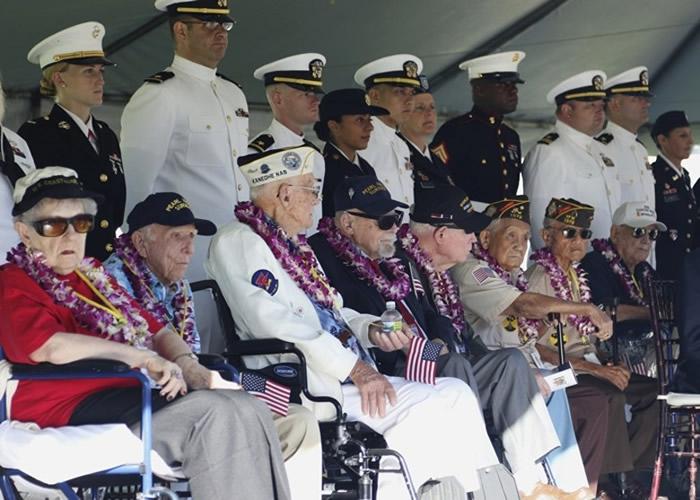 二战日军偷袭珍珠港事件78周年 美军及美日约3000人出席追悼遇难者
