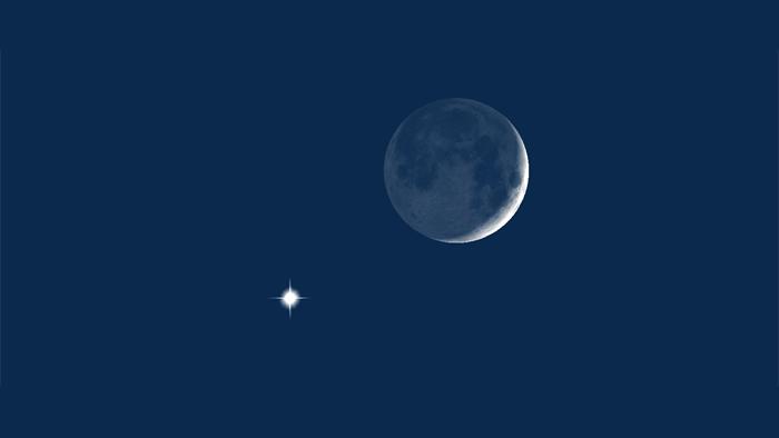 2020年1月28日金星合月