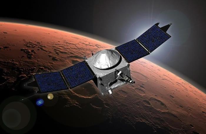 """NASA""""火星大气与挥发物演化""""MAVEN航天器测绘火星高层大气的总体环流"""
