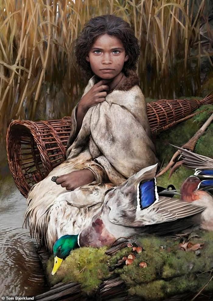 """丹麦发现5700年前""""桦木树皮""""香口胶 分析残留DNA重组石器时代小女孩Lola样貌"""