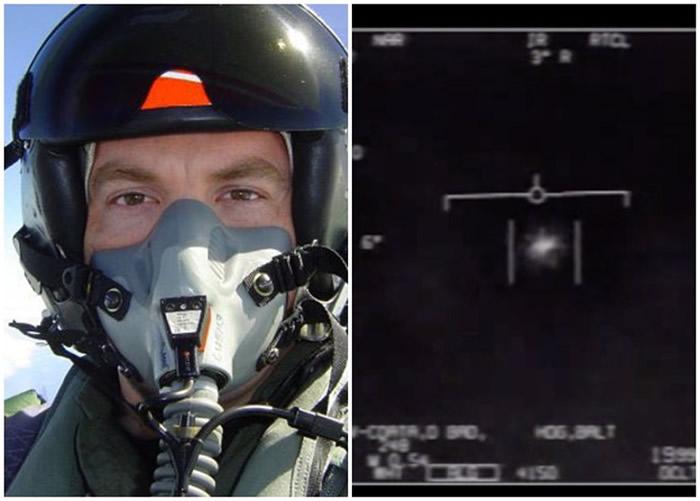 安德伍德(左图)相信当日摄到的是UFO(右图)。