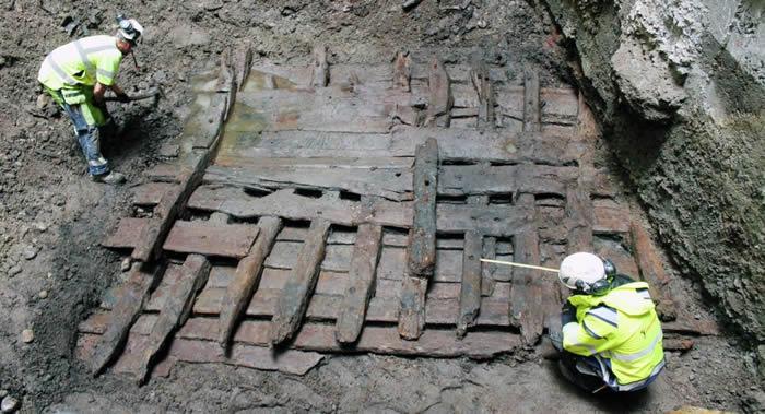 瑞典斯德哥尔摩市中心发现建造于十六世纪末的木制船只残骸