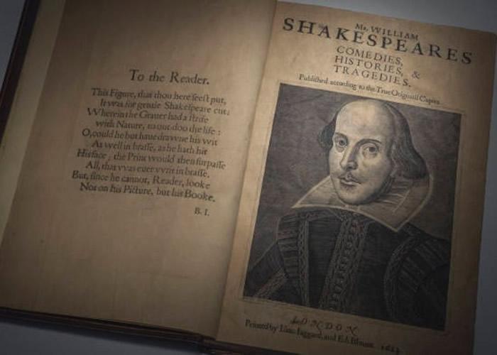 英国大文豪莎士比亚《第一对开本》副本4月拍卖 近20年来首次