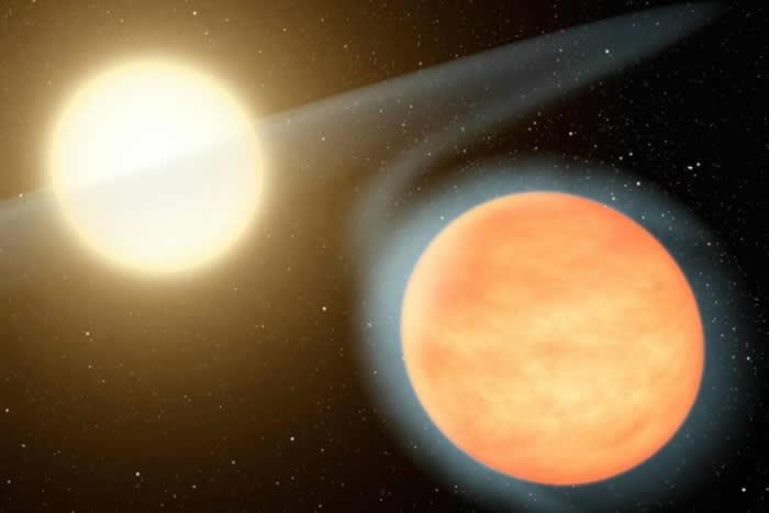天体物理学家发现御夫座系外行星WASP-12b正处于300万年的毁灭期内