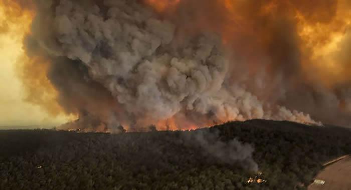 澳大利亚山火蔓延 国际空间站宇航员称从未见过如此凶险的火情