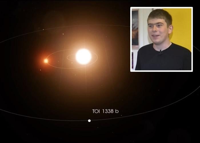 美国太空总署NASA17岁实习生Wolf Cukier上班仅3天就发现新系外行星TOI 1338b
