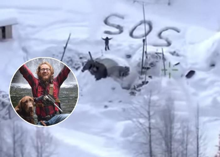 美国阿拉斯加州男子雪地荒野求生23天 靠画SOS成功获救
