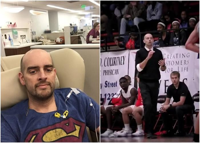 掌上压挑战 美国阿肯色州篮球员为恩师治疗癌症打气