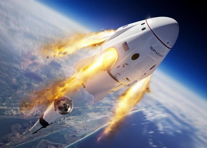 SpaceX猎鹰9号火箭主动自爆测试Crew Dragon载人太空船灾难应对能力
