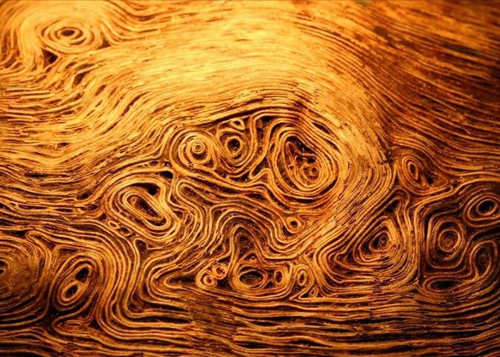 日本一块头的木纹有如梵高名画《星夜》 网友叹不舍得烧