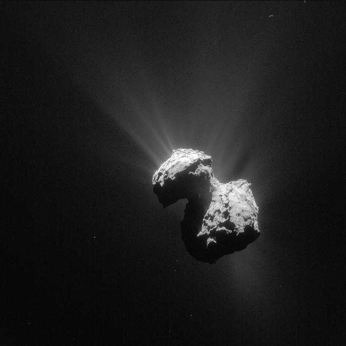 """67P/楚留莫夫-格拉希门克""彗星成分中发现铵盐"