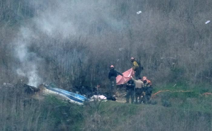 美国NBA湖人队传奇球星科比Kobe遗体找到了 坠机9人遗体全数寻获