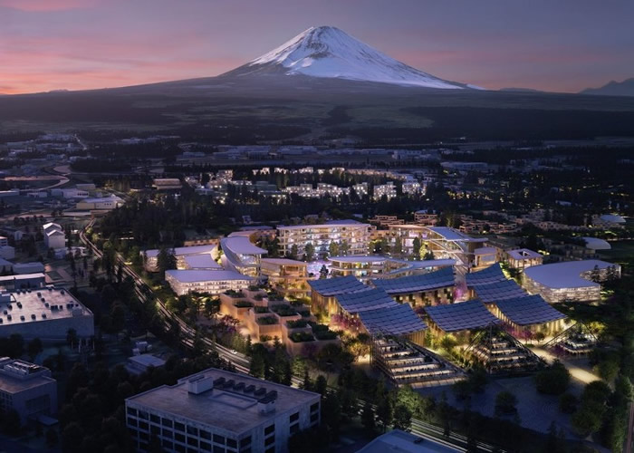 丰田拟建引入AI技术的Woven City。图为构想图。
