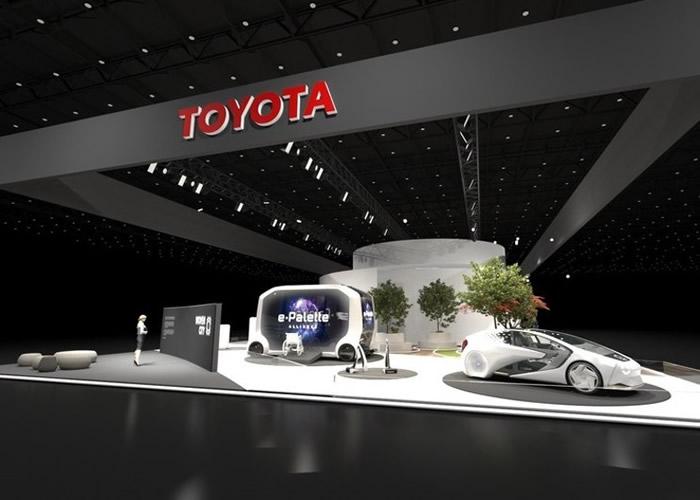 Woven City内会以丰田开发的e-Palette行驶。