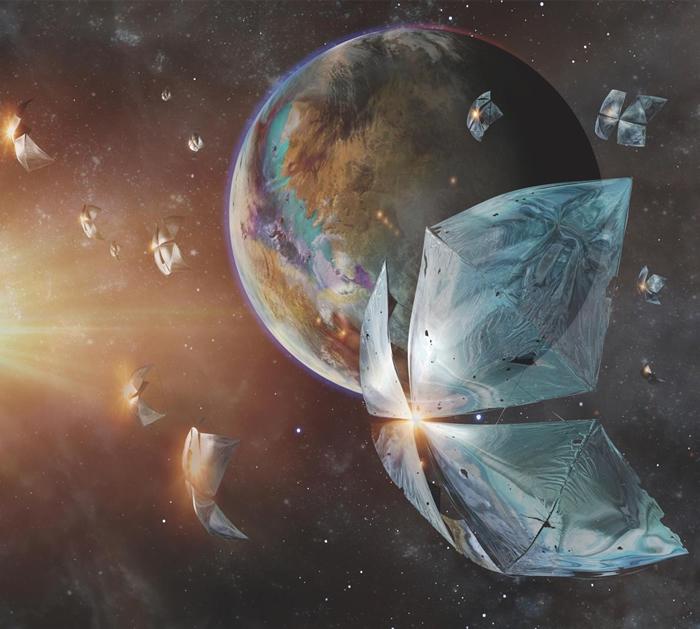 在突破摄星(Breakthrough Starshot)计划中,微型宇宙飞船正全速飞向行星比邻星b(Proxima Centauri b)。 现在,天文学家认为