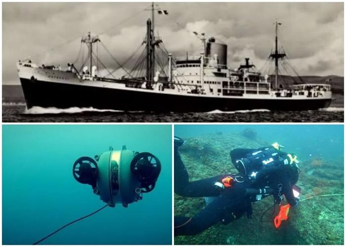 """美国佛罗里达州对开百慕达三角海域找到近95年前失踪美国商船""""科托帕西号"""""""