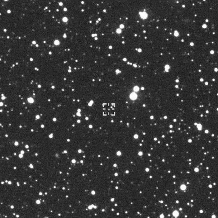 中间光标处就是小行星2002 PZ39。紫金山天文台供图
