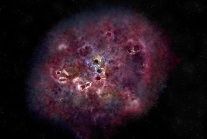 发现诞生于120亿年前的不寻常巨型星系XMM-2599 当时宇宙只有18亿年历史