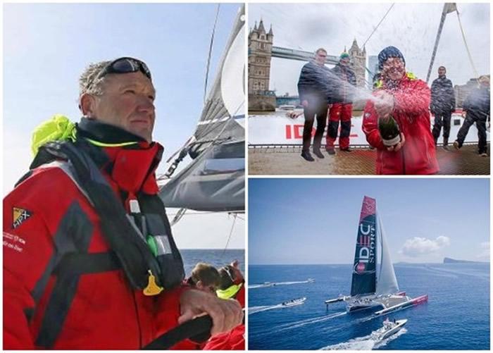 """法国著名航海家Francis Joyon再破纪录 完成由香港至英国伦敦之间的""""茶叶之路""""航线"""