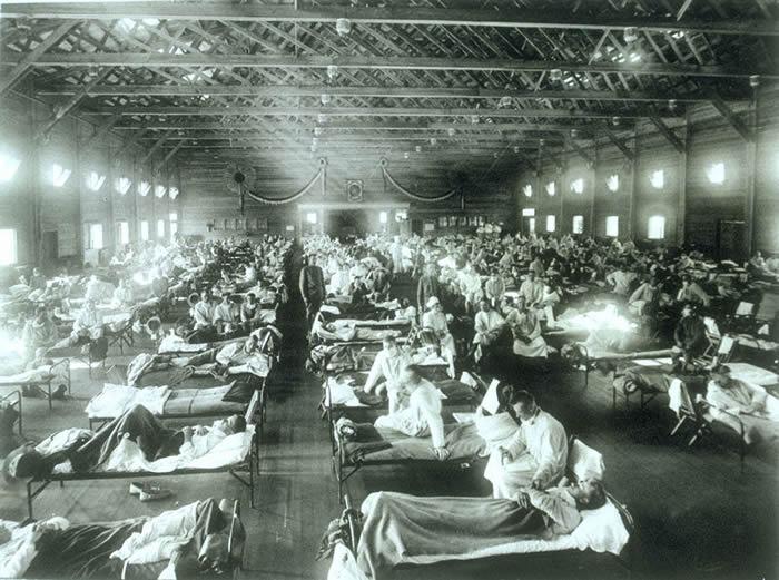"""1918年""""西班牙流感""""造成全球5亿人感染 夺走9000万条性命"""