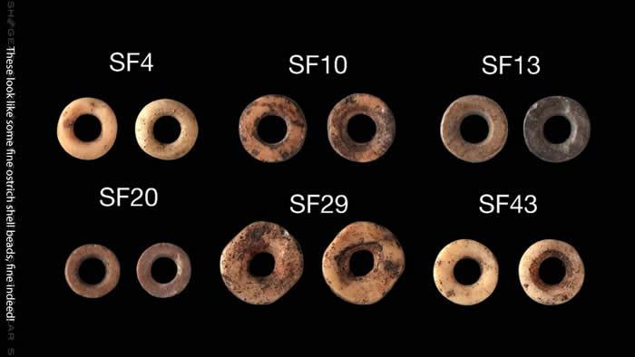 """莱索托33000年前的鸵鸟蛋壳珠子就像是石器时代的""""点赞"""""""
