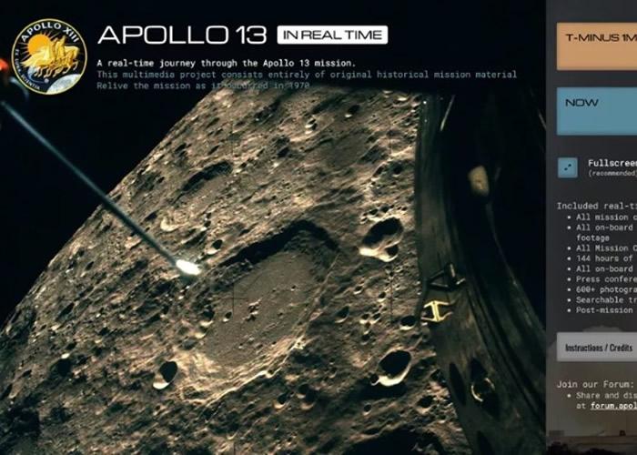 NASA阿波罗13号50周年 模拟实时直播网站重温旅程