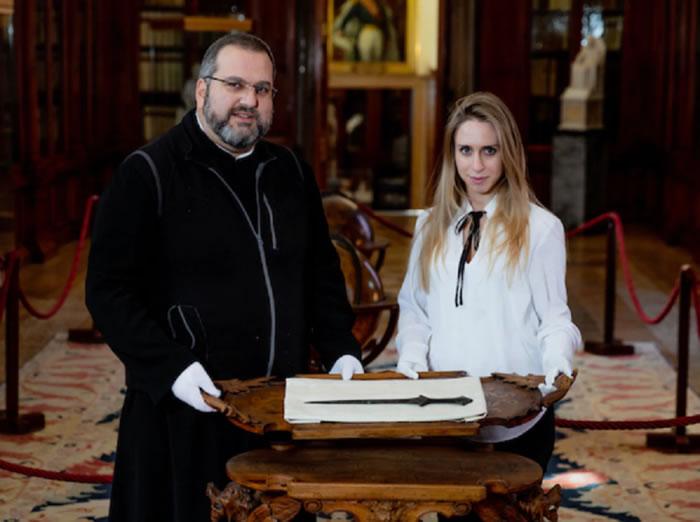 意大利圣拉扎罗-德里-阿梅尼修道院博物馆中的剑至少有4000年历史