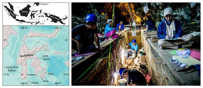 印度尼西亚苏拉威西岛洞穴石片上发现人类历史上最古老雕刻画 距今26000年