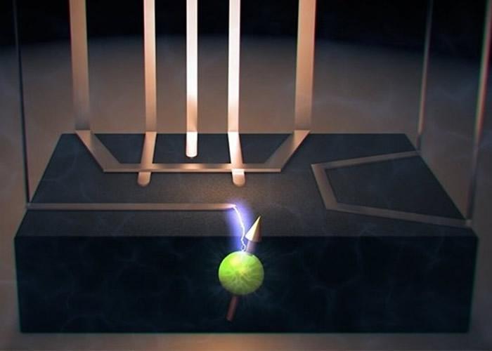 团队以电脑模拟出核电共振现象。图为构想图。
