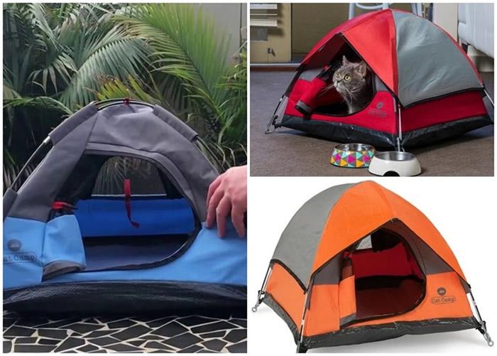"""澳洲公司推出一款猫咪专用帐篷""""Cat Camp"""""""