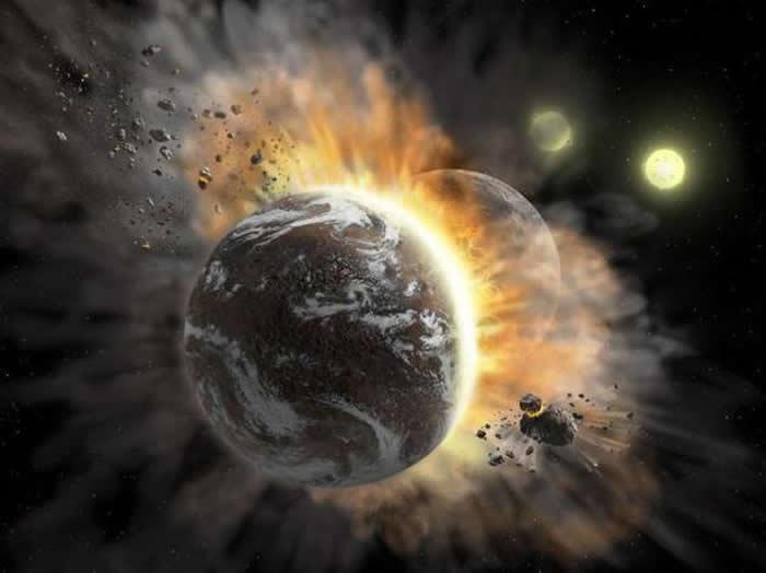 系外行星发生碰撞