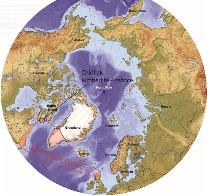 研究或证实北大西洋古陆(红色虚线)较原先估计的大。