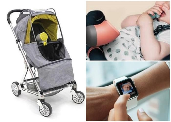 """韩国设计师设计出既可净化空气又可供监察婴儿车上小孩的小型空气净化机""""Purio"""""""