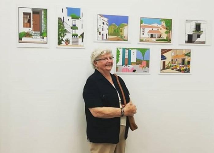 西班牙巴伦西亚89岁婆婆Concha Garcia Zaera用小画家绘画 作品大受网民欢迎