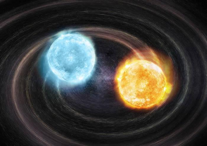 美国天文学家首次探测到由两颗独立的白矮星组成的双星系统J2322+0509
