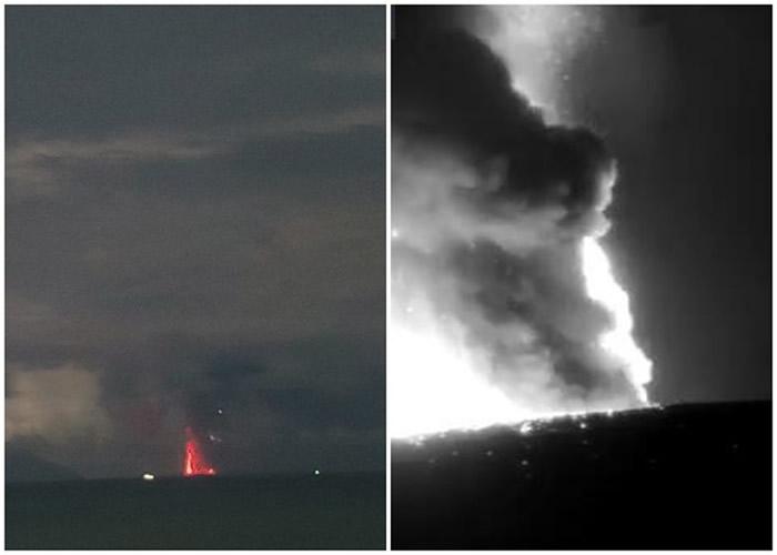 印尼喀拉喀托火山岛再次爆发 火山警戒升至第二级