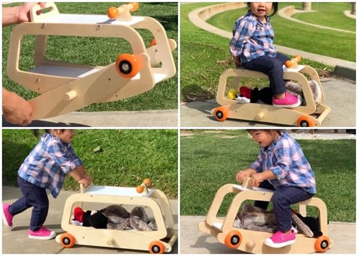 """美国越南裔设计师推出百变3合一玩具""""Luma Rock & Roller"""" 孩子成长都能玩"""