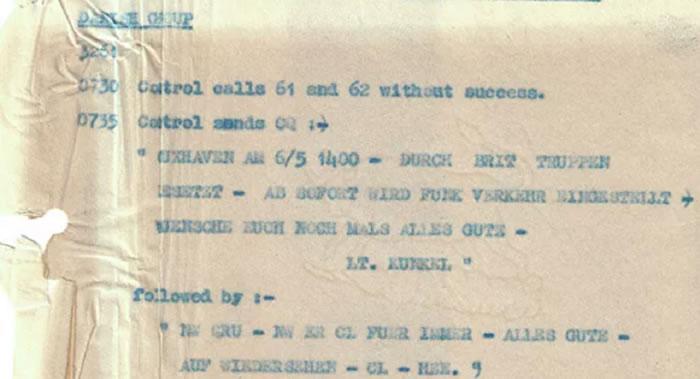 英国政府通讯总部(GCHQ)发布纳粹分子在二战的欧洲部分结束前的通讯信息