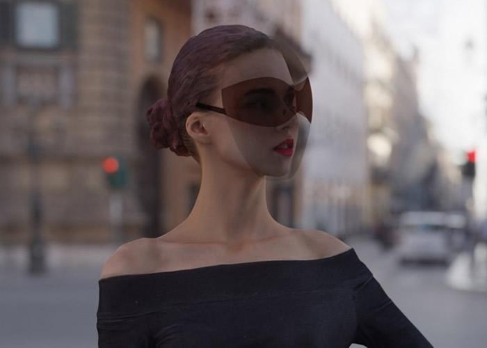 美国设计师新设计的太阳眼镜结合透明面罩 方便防疫