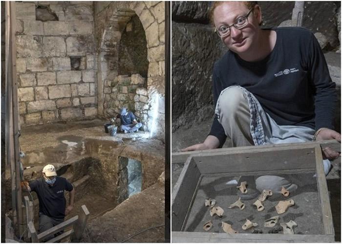 以色列文物局在耶路撒冷老城圣殿山地标哭墙附近发现2000年前地下密室
