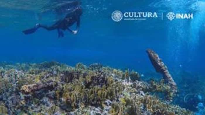 墨西哥加勒比海沿岸地区钦乔罗浅滩附近发现一艘200年前的沉船