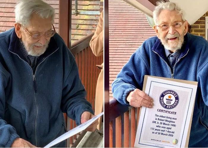 吉尼斯世界纪录大全世界最年长男性英国老翁卫清荣(Bob Weighton)辞世 享年112岁