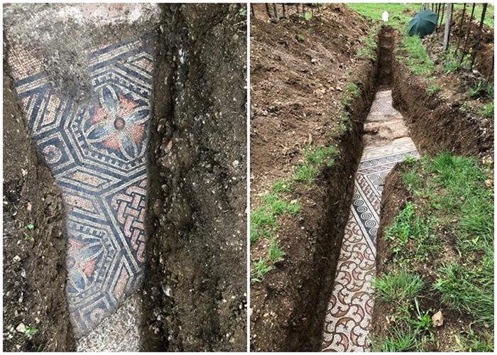 意大利维罗纳省北部小镇葡萄园地下发现保存完好的古罗马镶嵌马赛克地板