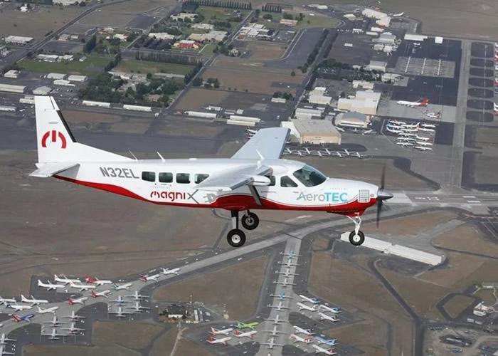 """全球最大全电动飞机""""eCaravan""""在美国华盛顿州成功试飞 几乎零噪音"""