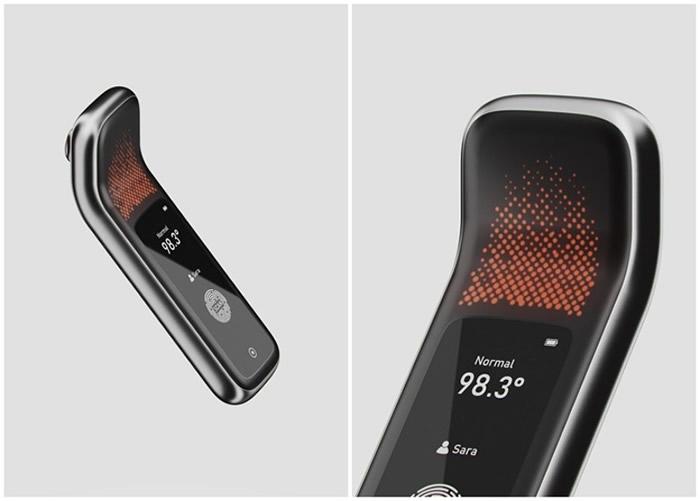 """美国公司推出一款具备自动纪录功能的红外线体温计""""Vero"""""""