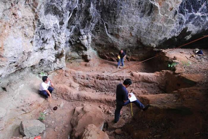 塔甸老龙洞古人类洞穴居住遗址