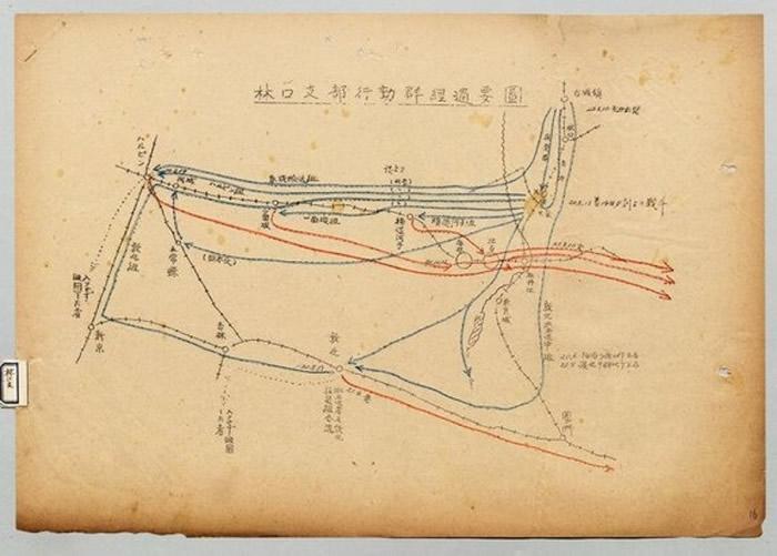行动经过要图标注了战败前后各支部部队详细动向。
