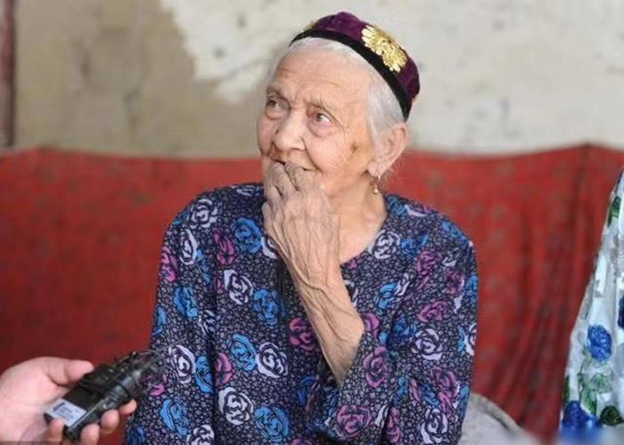 中国最长寿的人阿丽米罕·色依提过134岁生日 生于清朝光绪年