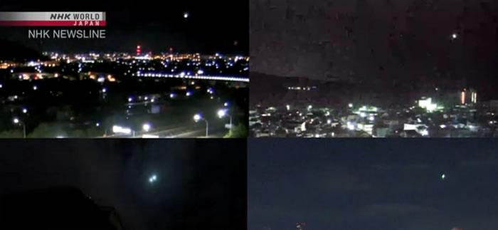 日本关东地区凌晨出现大火球并传出爆炸巨响 可能已变成陨石坠落在千叶市西北方