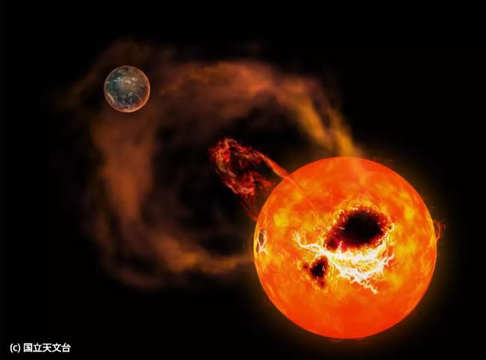距离地球仅16光年的红矮星AD Leonis向宇宙中释放十几个恒星耀斑